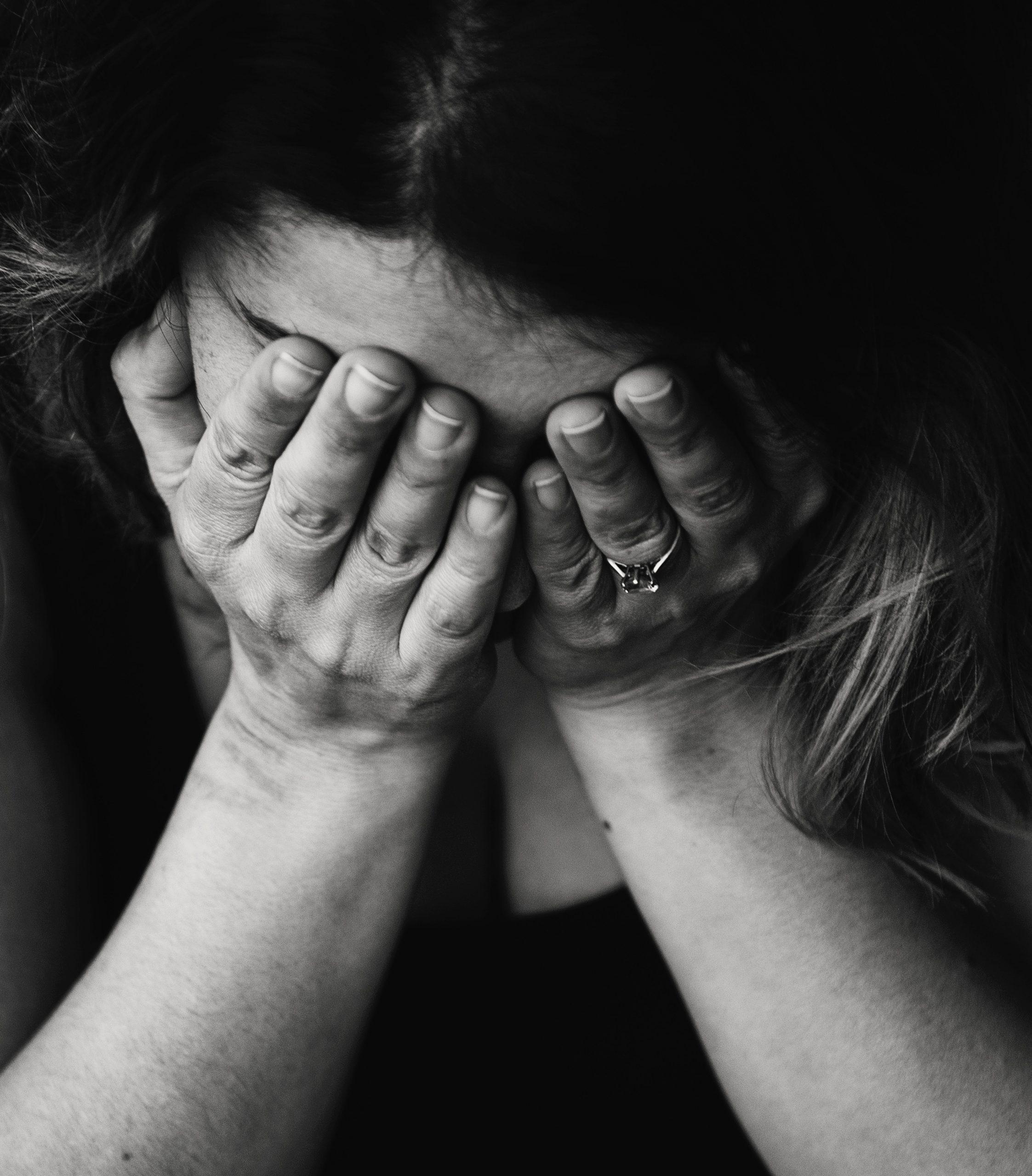 Woman cryinng