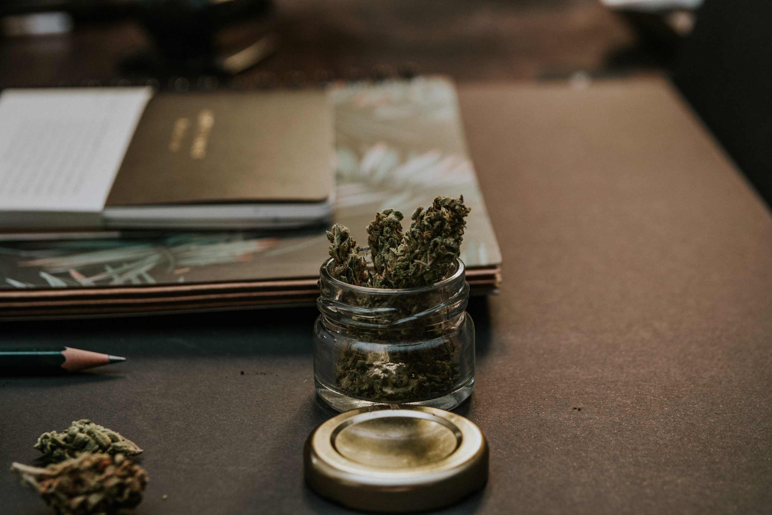 Cannabis on Table